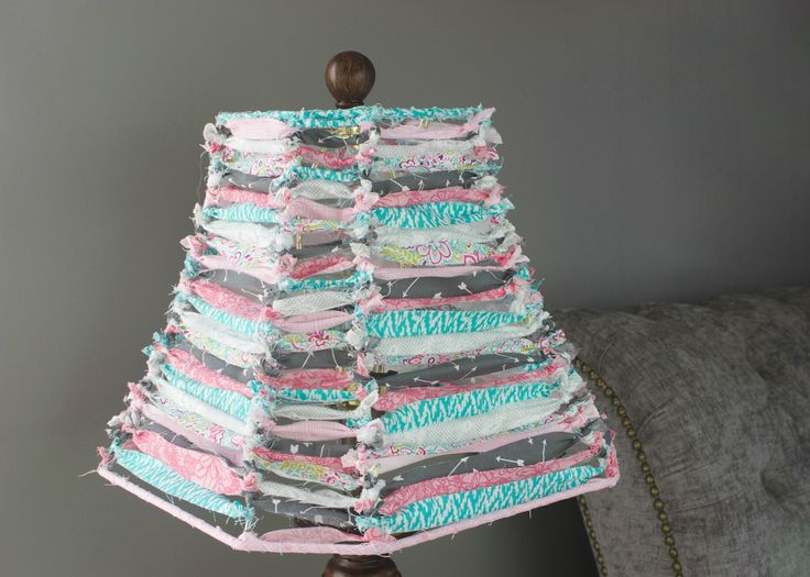DIY Scrap Fabric Lamp