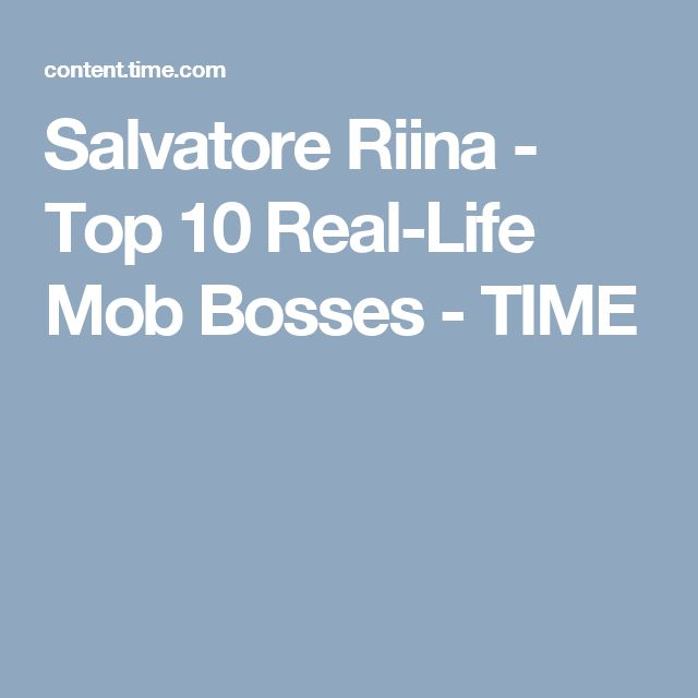 Salvatore Riina - Top 10 Real-Life Mob Bosses - TIME
