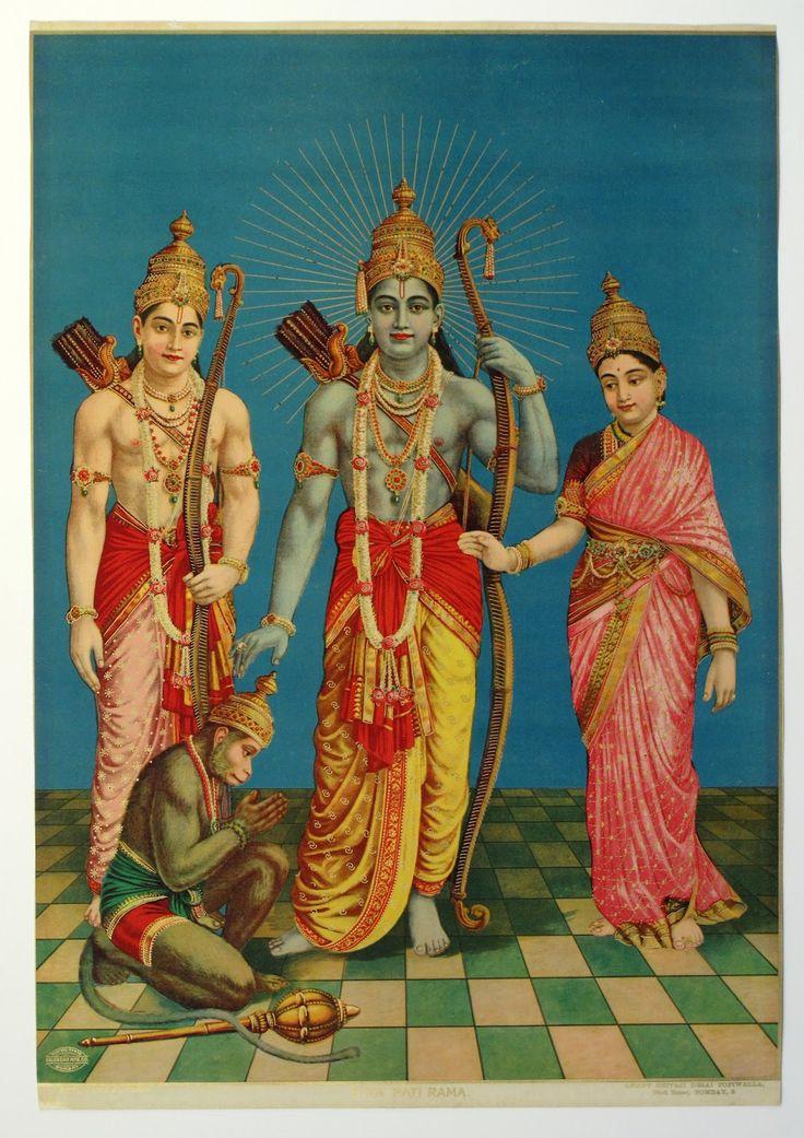 Ram, Laxman, Sita and Hanuman