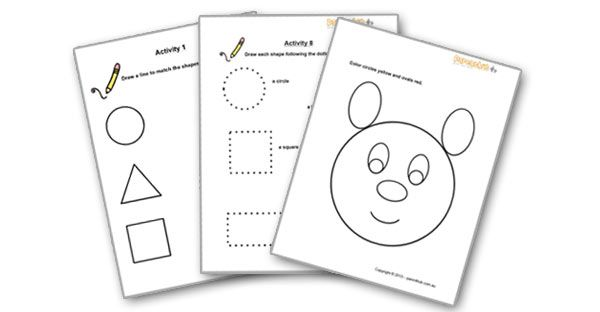 Preschool Worksheets 3 Year Olds Worksheets For 4 Year