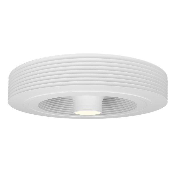 ventilateur exhale blanc avec led 3k luminaire white. Black Bedroom Furniture Sets. Home Design Ideas