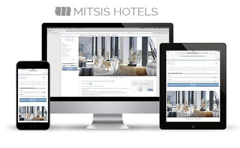 The Mitis Hotel's website by F- Design at www.mitsishotels.com. #website #web #webdesign #design #hotel
