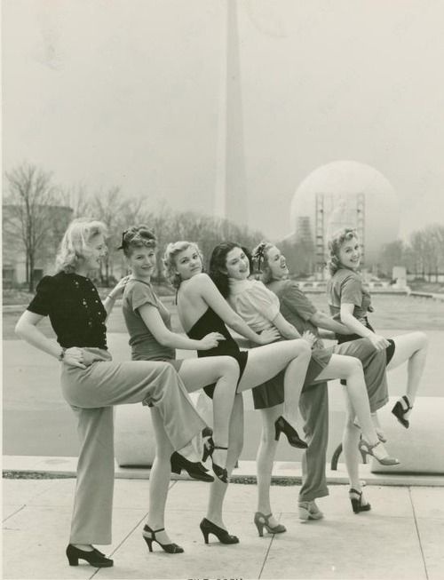 Lovely ladies at the 1939 World's Fair in New York. - Individual characters?