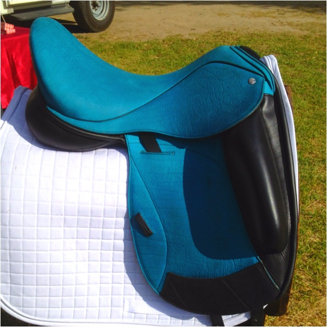 Wow.... Love this color... Custom dressage saddle!
