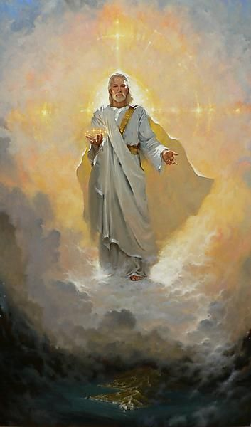 Jesus, Son of Man - the vision of John on the isle of Patmos in Rev. 1.  Brian Jekel