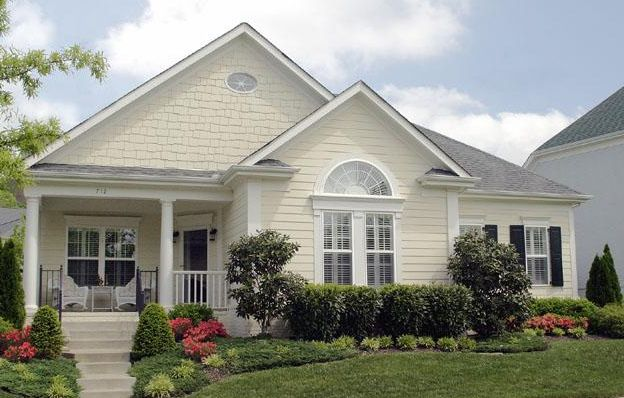 One Level Cottage Style Home Design Pinterest