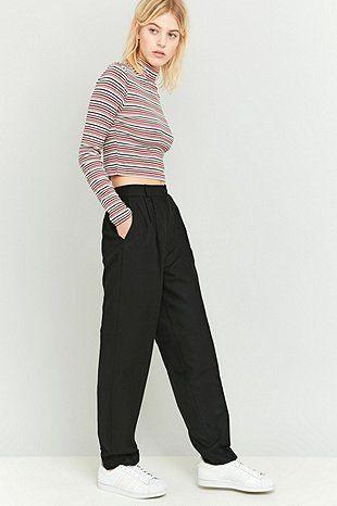 Urban Renewal Vintage Remnants Black Wool Trousers - Urban Outfitters
