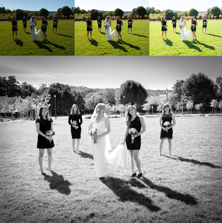Merged in Lightroom then finished with B&W DARKER from theSMART WEDDING PRESET SYSTEM.