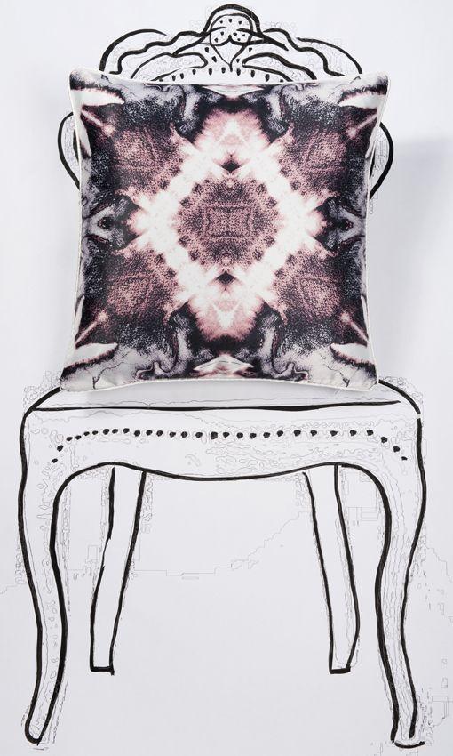 abstract mirror design pillow cover