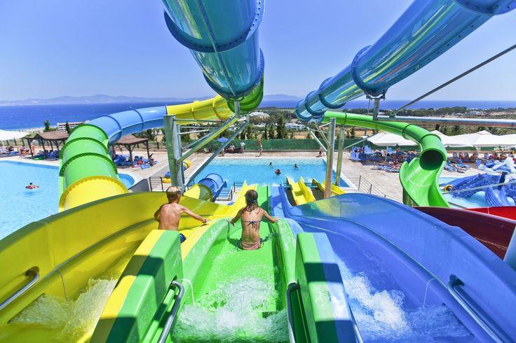 Water slide for kids. Cause we love making    your kids happy!! #waterslide #aqualand #kipriotishotels #greekisland #familyholidays
