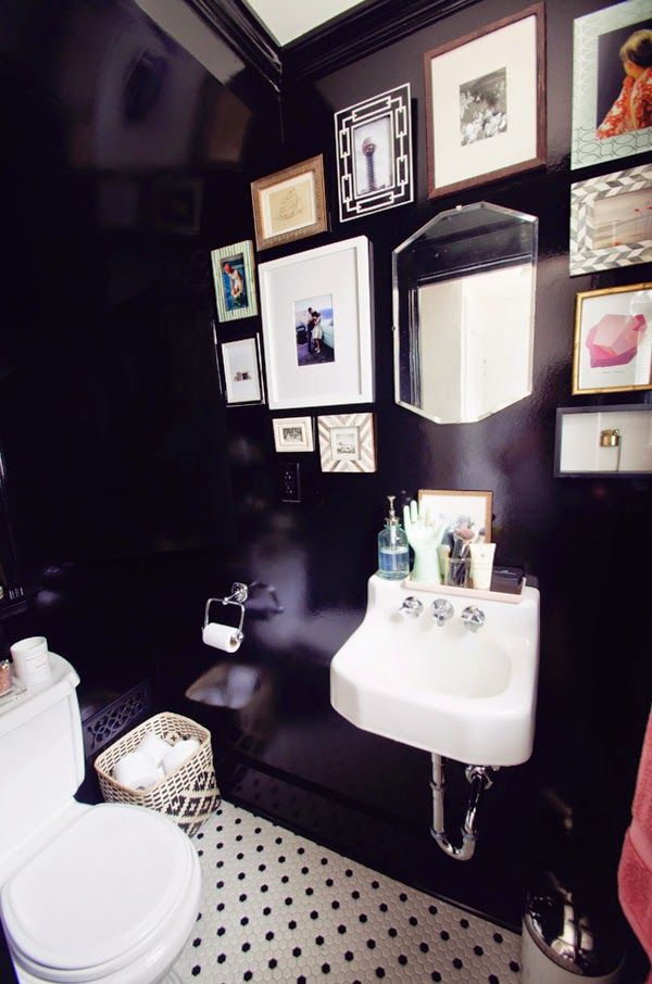 1000 ideas about black powder room on pinterest black