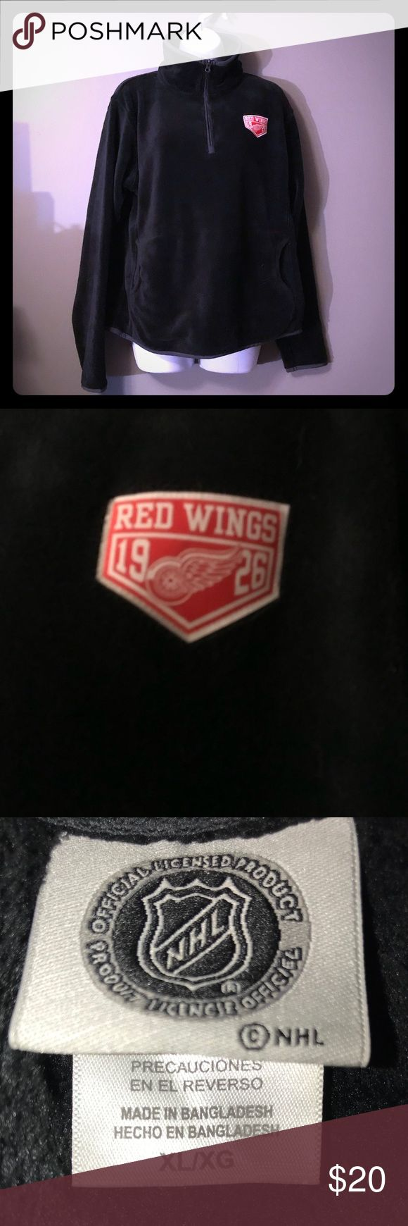 Red Wings pullover Very soft and comfy Red Wings pullover. Like new worn once. NHL Tops Sweatshirts & Hoodies