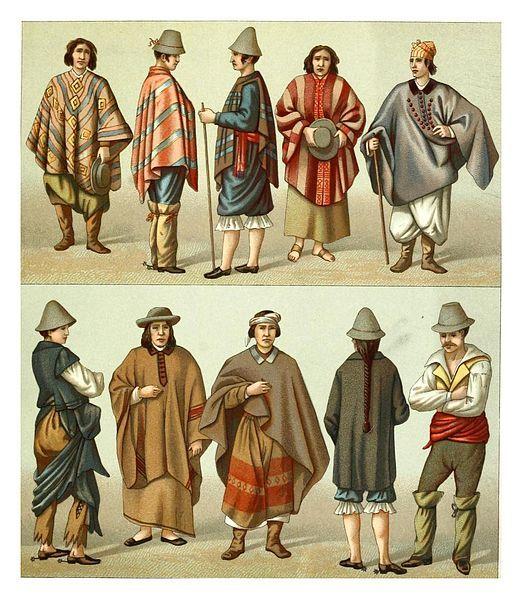 File:Trajes chilenos -Geschichte des kostüms in chronologischer entwicklung 1888- A. Racinet.jpg