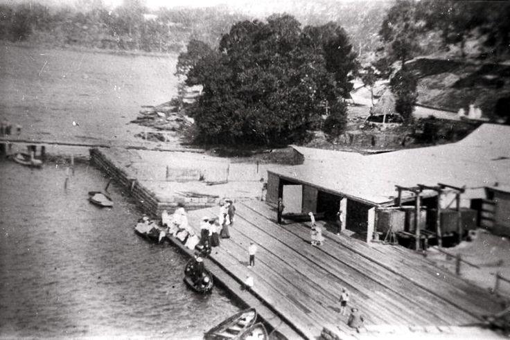 Murphys boatshed, Como, ca. 1912 picture.