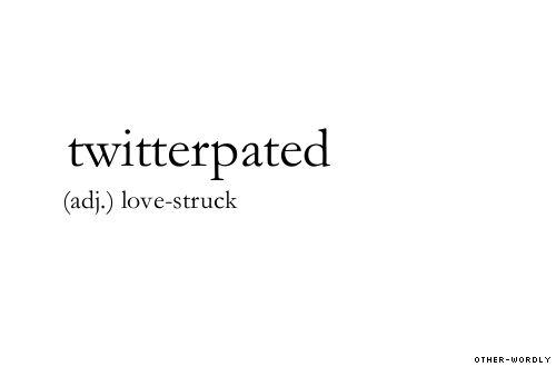 (adj.) love-struck