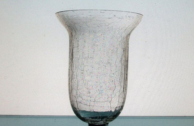 Hanging candle holder 4 x 5 clear crackle glass hch083 for Used candle holders