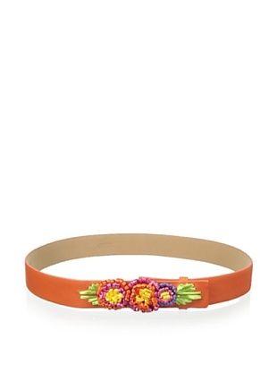 62% OFF RED Valentino Women's Floral Belt (Tangerine)