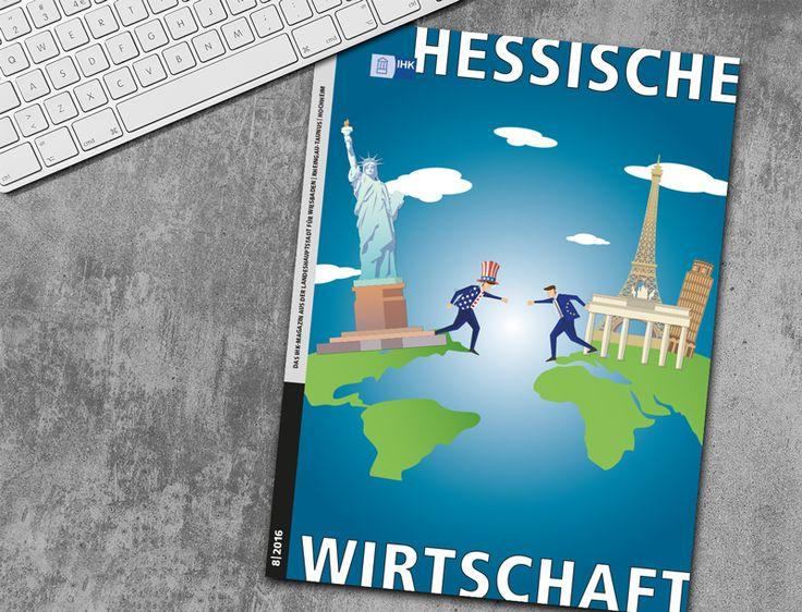 """IHK Wirtschaftsmagazin - Cover Konzeption und Design des Magazins """"HESSISCHE WIRTSCAHFT"""" der Industrie und Handelskammer"""