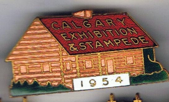 1954 Calgary Stampede Companion pin