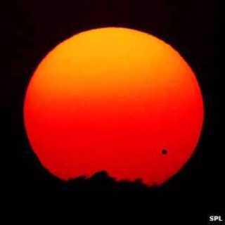 Jupiter passes in front of the sun...