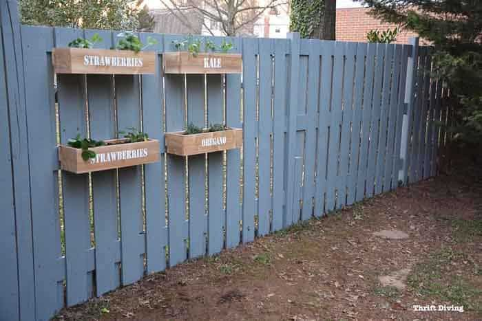 How To Make A Hanging Fence Garden Diy Wooden Planters Hanging Planters Outdoor Diy Garden Fence