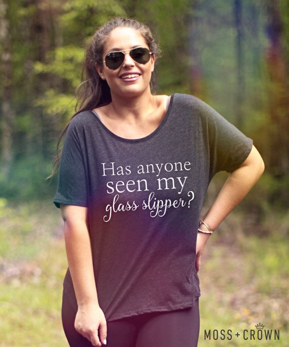 Cinderella Glass Slipper Tee Sizes S-3X Plus Sizes by MossandCrown