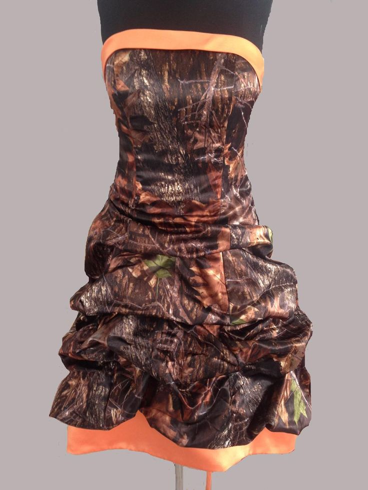 Real Image ! Mossy Oak Camo Dresses Strapless Hi-lo Camouflage Bridesmaid Dresses Corset Back Pickup Country Wedding Prom Evening Dresses Online with $157.58/Piece on Cici8713's Store | DHgate.com