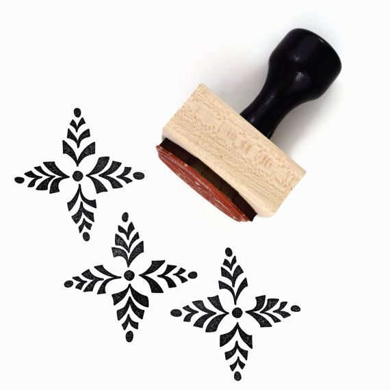 Rubber Stamp Four Point Scandinavian Pattern 1  Hand by creatiate                                                                                                                                                                                 More