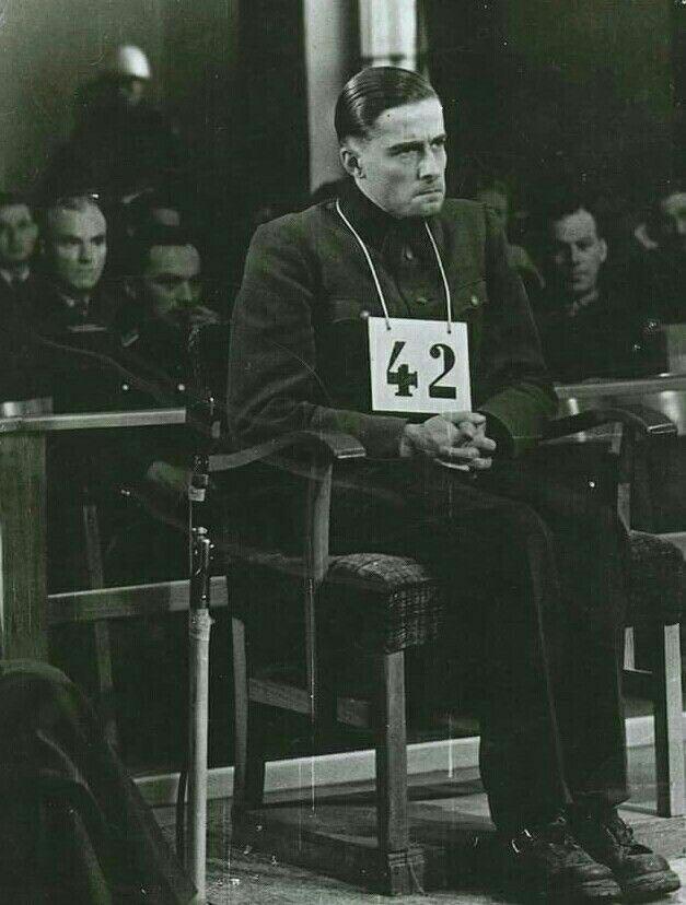 Joachim Peiper at the Malmedy massacre trial