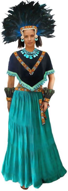 Aztec: She of the Jade Skirt costume description