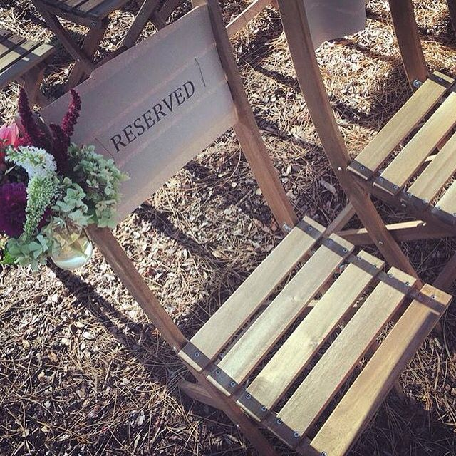 Chair flower decorations for the outdoor wedding ceremony - florosaria.flowers@gmail.com