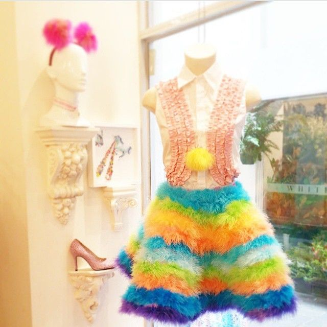 Our Ruffle Punx Shirt at @lady_petrova matching with @eatmedo skirt #wndlnd #ladypetrova #rainbow #eatmedo #boutique #fashion #melbourne #cbr