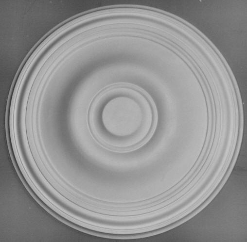 Kingston Ornate Plaster Ltd - Medium Plain Ceiling Rose