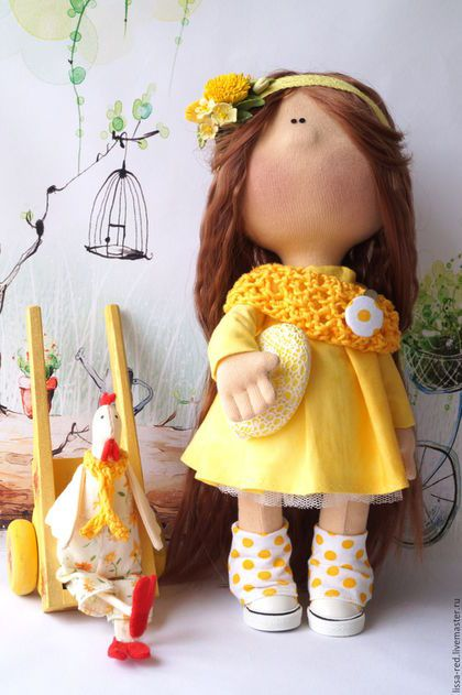 """Человечки ручной работы. Заказать Куколка  """"Девочка  Jane"""". Олеся Чепкасова. Ярмарка Мастеров. Текстильная игрушка, пасхальный подарок, кружево"""