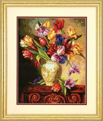 Dimensions 35305 «Попугайные тюльпаны»