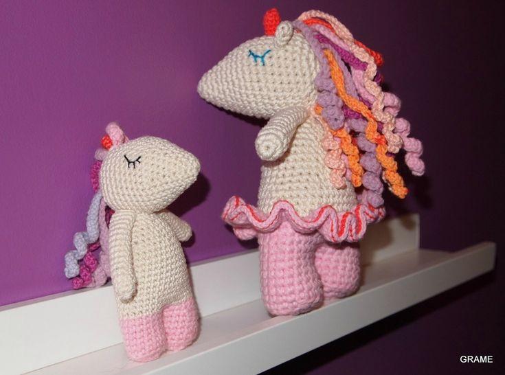 Licorne au crochet, coton et gourmandises, diy, grame, amigurumi, doudou,