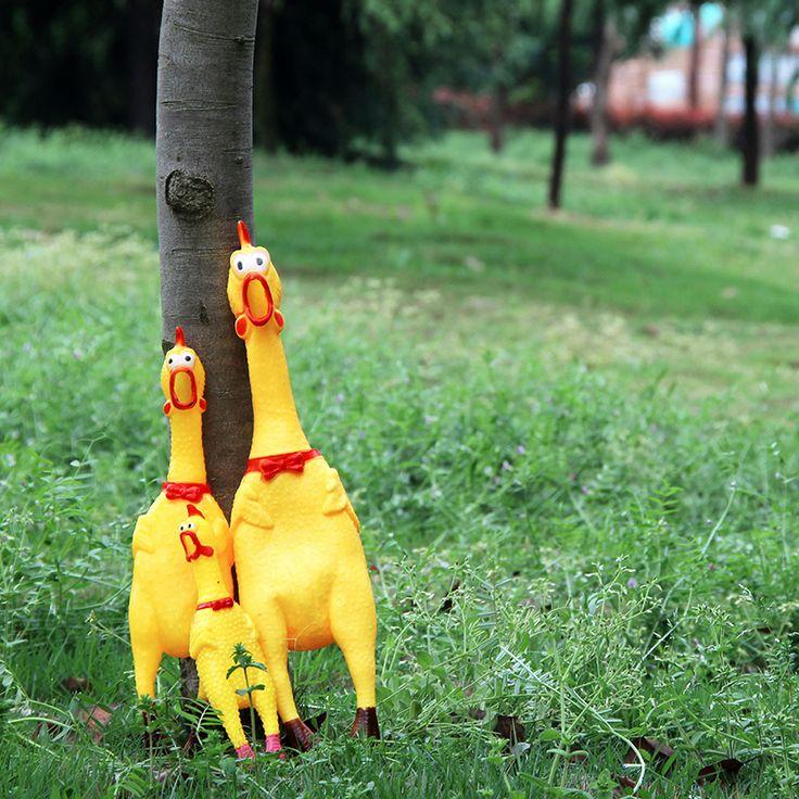 Hot Chappie's Mainan Squeeze Suara Menjerit Ayam Mainan Lucu Produk Untuk Anjing, Pet Mainan Kreatif Shrilling Dekompresi Alat