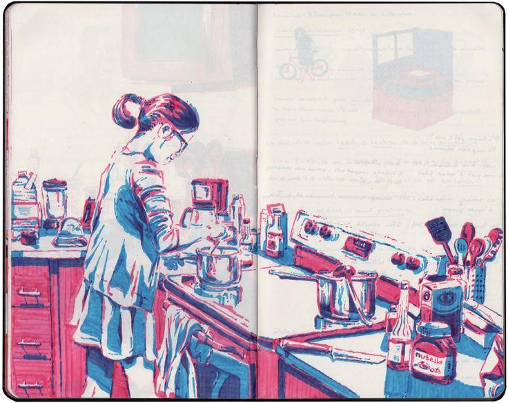 marker sketchbook by Thomas Rouzière #Art #sketchbook