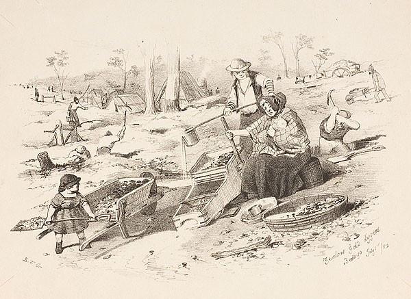 Zealous Gold diggers, Bendigo, July 1852