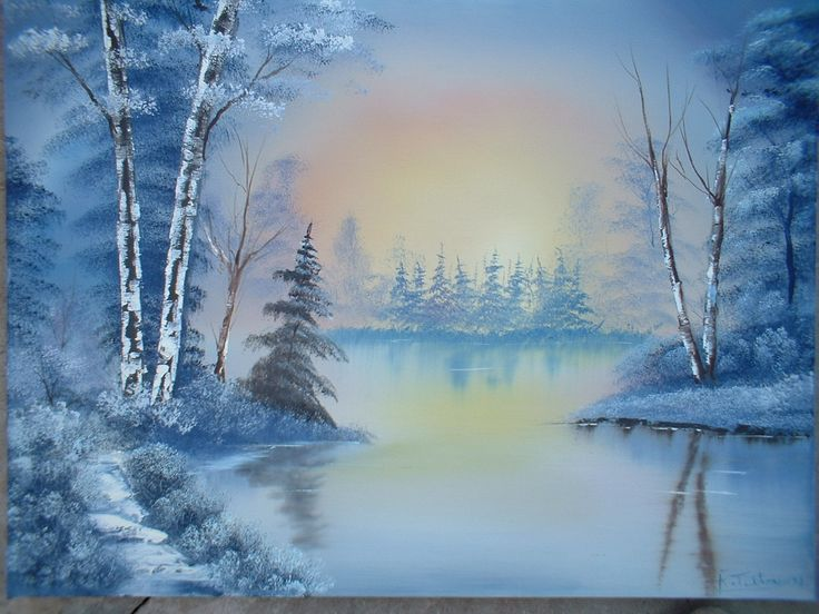 Bob Ross Oil Painting For Sale | Paintings in oil