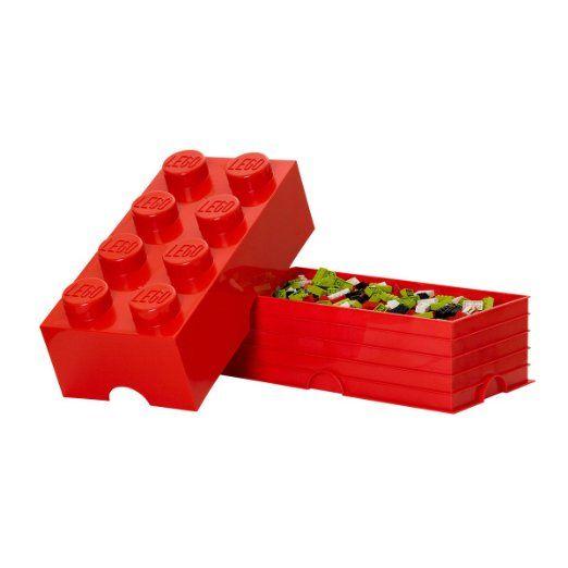 LEGO - Mattone di archiviazione 8, Rosso: Amazon.it: Casa e cucina
