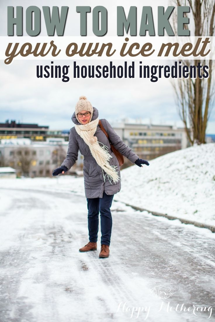 Winter is coming, and that means icy sidewalks and driveways. No need to worry. You can make your very own DIY ice melt using common household ingredients!
