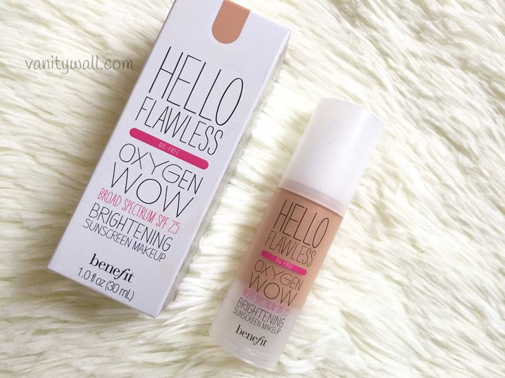Benefit Hello Flawless Oxygen Wow Foundation Review, Swatch & FOTD Benefit Hello Flawless Oxygen Wow Foundation – Product Claims Our brightening liquid
