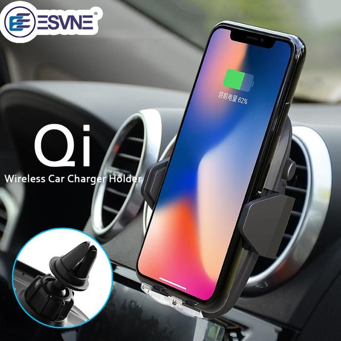 ESVNE qi wireless charger Air Vent Mobile Phone Car Holder Stand for iPhone 8 Plus X Samsung S8 GALAXY S7 Support cellular Phone