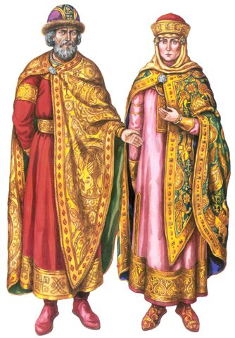 Ancient Ukrainian/Russian prince and princess in Kievan Rus / Князь и княгиня в Киевской Руси. Ancient Ukrainian nobles. Kievan Rus / Ukrainian culture, Ukrainian traditions, Ukrainian style, Ukrainian roots, Ukrainian beauty / Исторические костюмы времен Киевской Руси