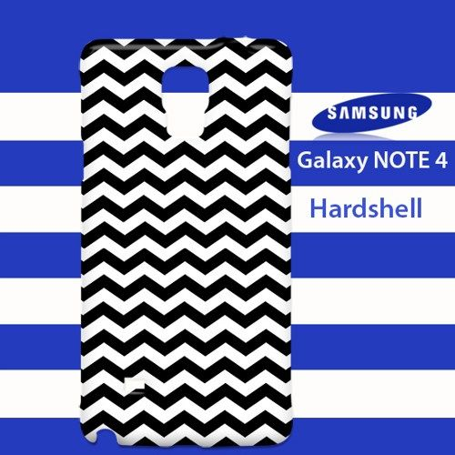 Black and White Chevron Printed Samsung Galaxy Note 4