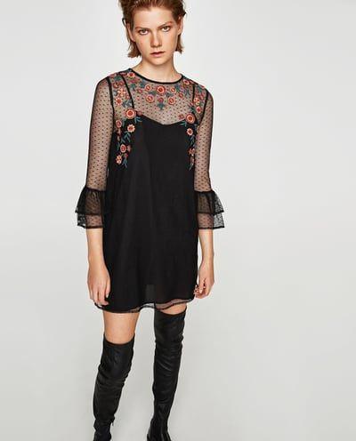 $29.99 PLUMETIS EMBROIDERED DRESS-Mini-DRESSES-WOMAN-SALE   ZARA United States