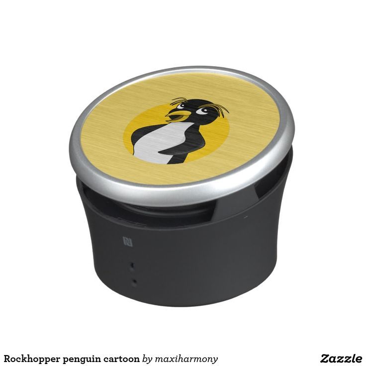 Rockhopper penguin cartoon speaker