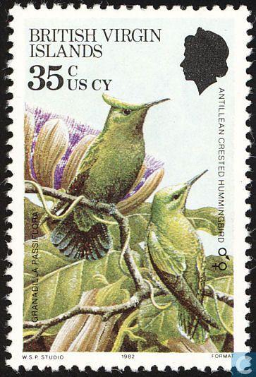 Stamps - British Virgin Islands - Birds 1982