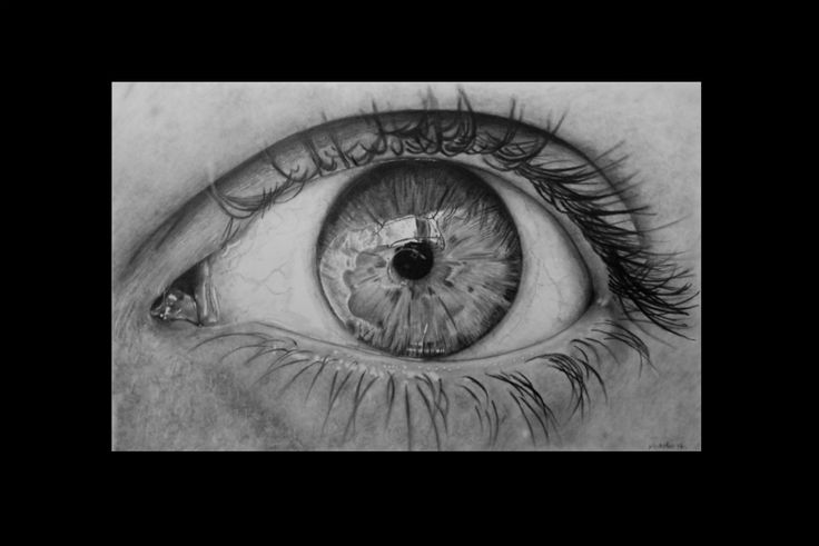 Between blinks. Keith More hyperrealistic pencil drawing A3 size.